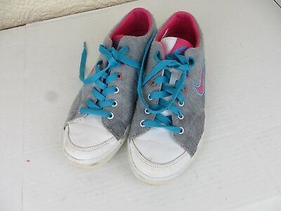 Nike Women's Girls Trainers Shoes Grey/Pink/White/Blue Size UK 4 EUR 36.5