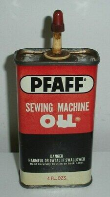 PFAFF Sewing Machine Oil,Chicago,ILL.,Tin Oiler Can (5 Inches Tall)