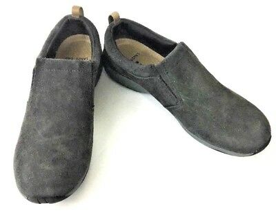 cfefbdf0232 MINT! LANDS END Womens Suede Slip On Loafers Shoes Brown Size 8D ...