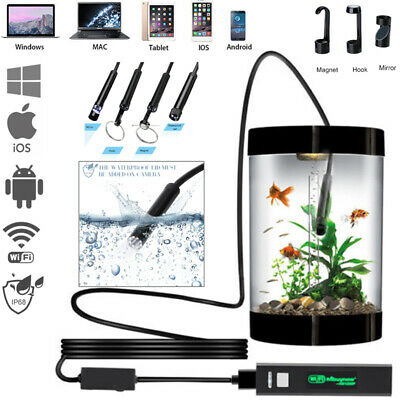US 8LED Wireless Endoscope WiFi Borescope Inspection Camera for Android & PC