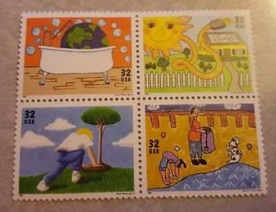 US Mint Never Hinged Postage Stamps Scott #2951- #2954 Kids Care 32c