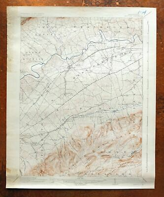 Newville Pennsylvania Vintage USGS Topographic Map 1919 Shippensburg Plainfield