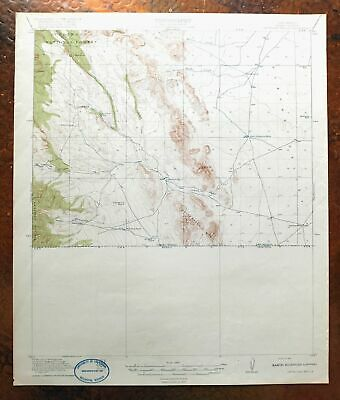 1919 Antelope Wells New Mexico Antique USGS Topo Map 15-minute Topographic