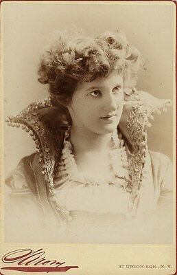 Portrait Of An Actress Named Robel: Unusual Fashion  (Cabinet Card)