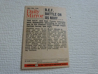 Abc  Battle Of Britain Cards 1970