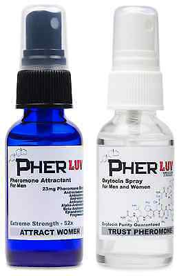 PHEROMONE COLOGNE for MEN ATTRACT WOMEN and OXYTOCIN SPRAY PherLuv Complete Pack