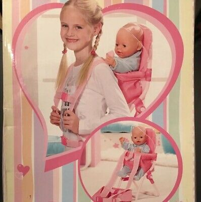 BNIB Zapf Creation Baby Born Travel Cocoon Doll Carrier Backpack