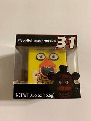 RARE FIVE NIGHTS AT FREDDY'S Stackable Radz CUBEZ 3 In1 Candy Dispenser Booklet