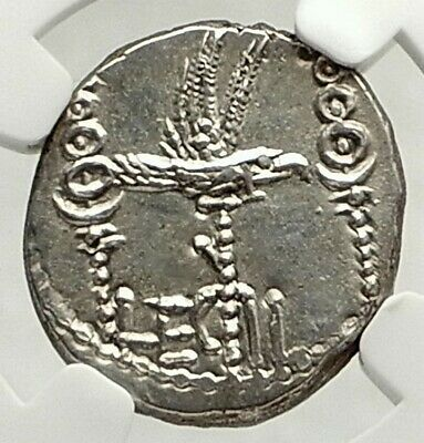 MARK ANTONY Cleopatra Lover 32BC Ancient Silver Roman Coin LEGION II NGC i76852