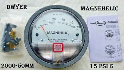 Dwyer Magnehelic Differential Pressure Gauge 2000-50mm *Max15psiG * W16AB