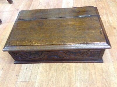 Antique Oak Bible/Slippers Box - 18th Century