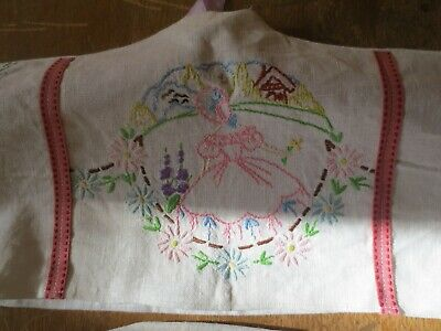 3 lovely heavy  cotton  embroidered coat hanger covers