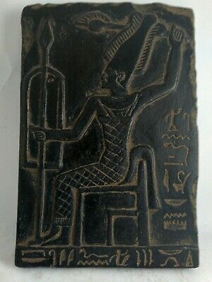 RARE ANTIQUE ANCIENT EGYPTIAN Statue Egypt Stone Stela God Osiris 1658 Bc