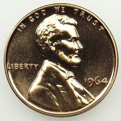 1964 Proof Lincoln Memorial Cent Penny (B02)