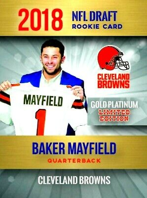 🔥  Baker Mayfield 2018 NFL DRAFT ROOKIE CARD -  Cleveland Browns