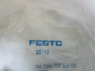 Lot Of 3 Festo Connector Qs-12 *New In Bag*