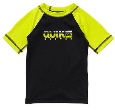 6ff9be8791 Quiksilver Infant Baby Short Sleeve Rashguard Size 12 Months UPF 50+ NEW B/Y