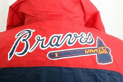 New Atlanta Braves Columbia Glennaker Lake Hooded Windbreaker Rain Jacket Mens L