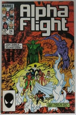 1985 Alpha Flight #24 -  Vf                   (Inv22714)
