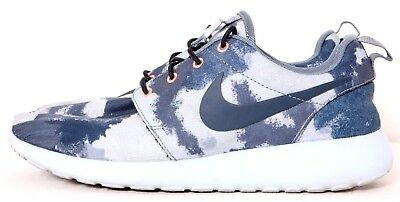 a698572ceda4 Nike 599432 Roshe One Print Blue Marbled Lace-Up Running Sneaker Women s US  8.5