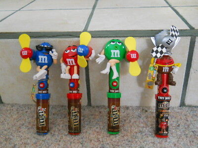 M&M'S Mars CANDY DISPENSERS FANS CHOOSE: Red Blue Green Nonedible Collectibles