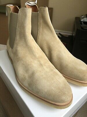 COMMON PROJECTS TAN (Sand) Suede Chelsea Boots EU 40