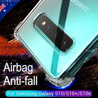 For Samsung Galaxy S10 S10+ Plus S10e Clear Case Shockproof TPU Bumper Cover