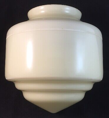 Small Vintage White Stepped Pointed Art Deco Light Lamp Shade - Suit Diana Lamp