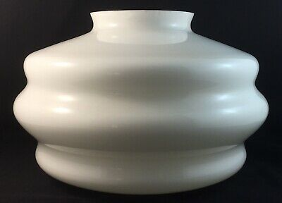 Vintage White Art Deco Stepped Beehive Glass Antique Light Shade
