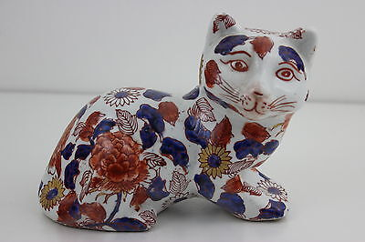 Antique Chinese Porcelain Large Cat  Signed Imari Decoration