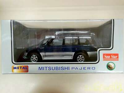 1//18 SUN STAR MITSUBISHI PAJERO V6 3000 BLUE SILVER GREAT LOOKING MODEL  #1210