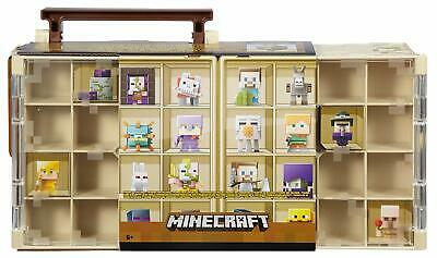 Minecraft Mini Figure Collector Case Desert Theme Toy Play Kids Gift 32 Figures