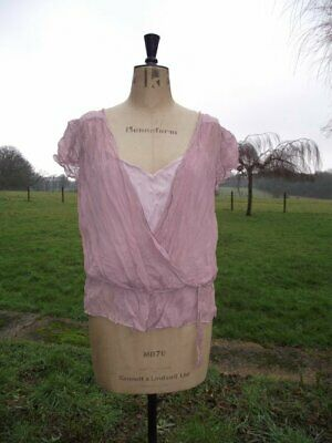 BIG GIRLS WARDROBE Pink Crinkle Top & Camisole Faux Two Piece Plus Size 20 BNWT