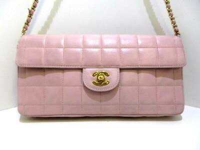 d9847ebe6035 CHANEL PEARL CHARM CC - Pink Leather Folding Shoulder Bag Medium ...
