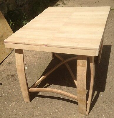 Refurbished Wooden Solid Oak Whisky Barrel Staves Coffee Table   Patio Table