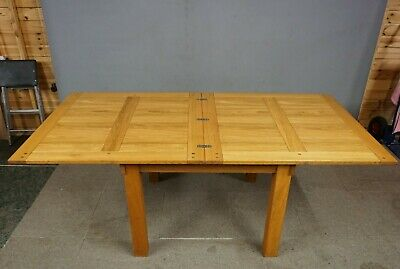 Solid Modern Oak Extending Dining Table - Seats 8 Delivery Option Available