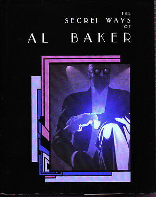 The Secret Ways of Al Baker Magic Book-1st Ed-Coins Cards Close-Up Mentalism-OOP