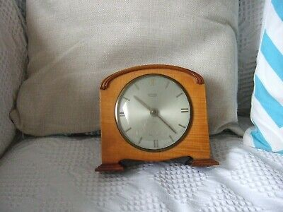 Vintage Smith's 8 Day 7 Jewels Mantle Clock& Receipt 1957