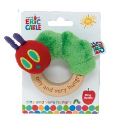 NEW The Very Hungry Caterpillar Tiny Caterpillar Baby Ring Rattle