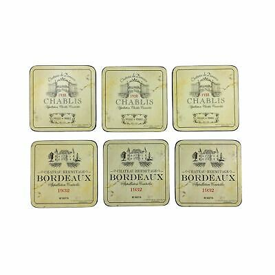 """Set Of 6 French Chateau Vineyard Cork Backed Placemats 30.5X23X0.6Cm- 12X9X0.25"""""""
