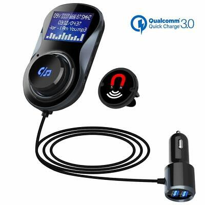 Car Bluetooth Fm Transmitter Mp3 Music Player Handsfree Car Kit Dual Usb Ports