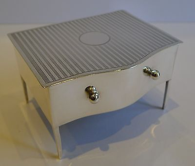 English Sterling Silver Jewelry Box in the Form of a Dressing Table / Dresser