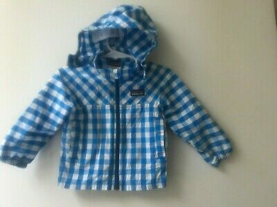 412ebff9c PATAGONIA BABY HIGH SUN Girls Size 6-12 Months HOODED WINDBREAKER JACKET  POCKETS