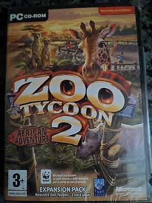 ZOO TYCOON 2 African Adventure Expansion Pack PC CD Complete