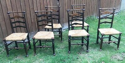 Set Of 6  Regency Ladderback Chairs