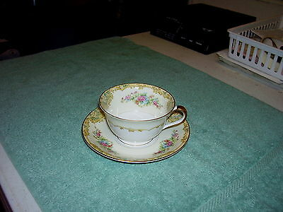 Vintage Noritake Alvin Cup And Saucer, Beautiful Gold Trim