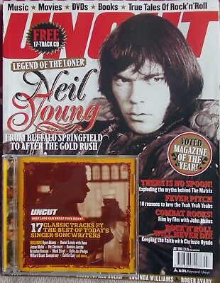 Uncut Magazine July 2003 with CD - Neil Young, 10CC, Chrissie Hynde etc
