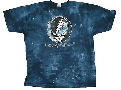 GRATEFUL DEAD-STEAL YOUR SKY & SPACE-SYF-TIE DYE TSHIRT XL ONLY dkbl