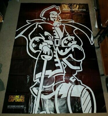 "74"" X 52"" Vinyl Captain Morgan Curtain 2010"