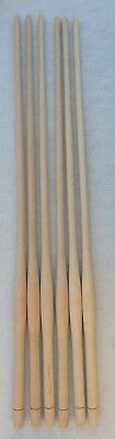 """WOOD CHAIR SPINDLES 23/"""" high  SET of 6 NEW MAPLE BULBOUS TURNED WINDSOR STYLE"""